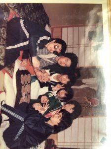 滝川高校の時の写真多分3年生?