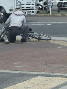 靴紐と、自転車^_^