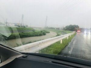 安威川の上流近く、太田付近は、ヤバイ(T . T)
